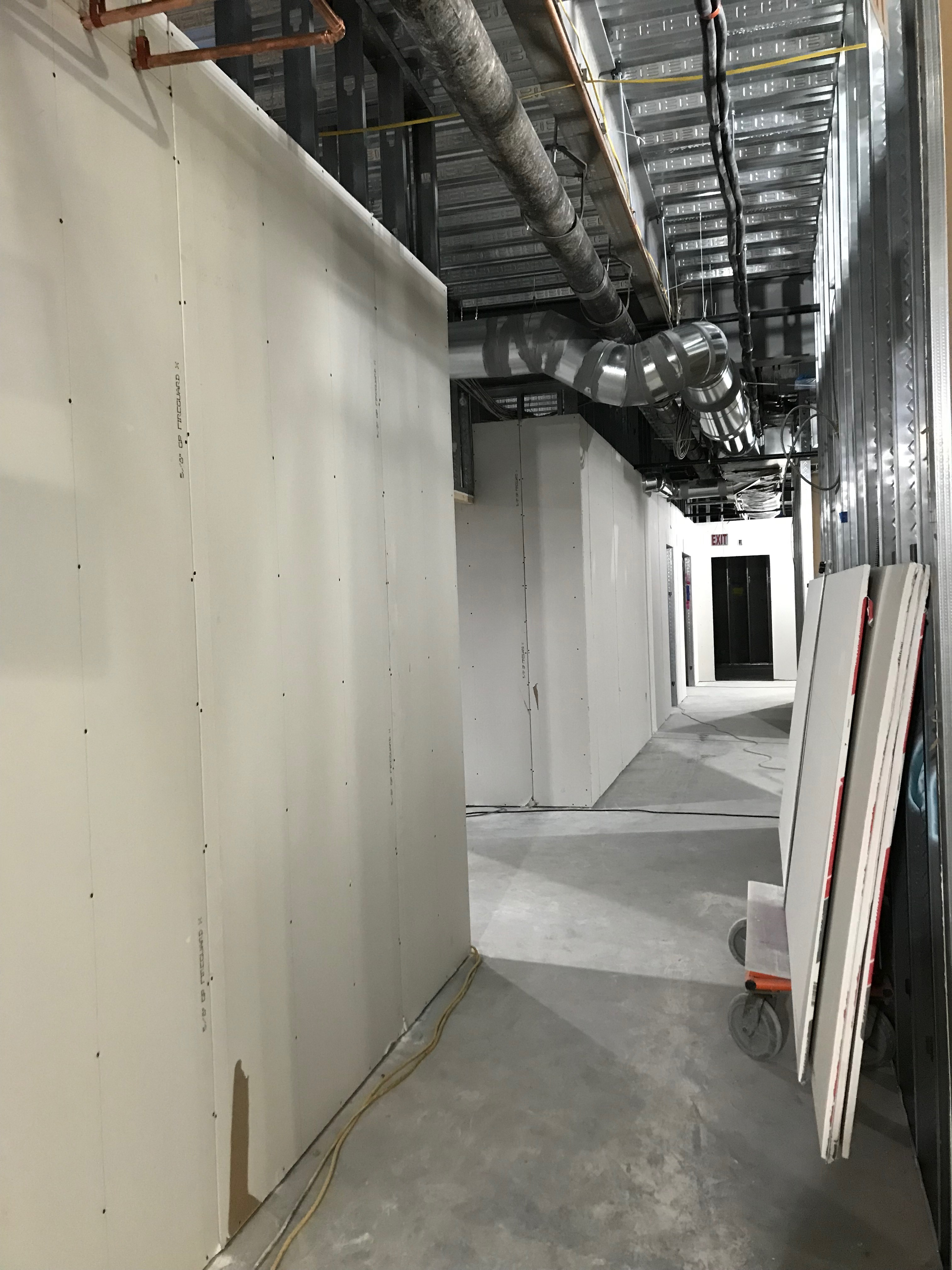 basement wall sheetrock