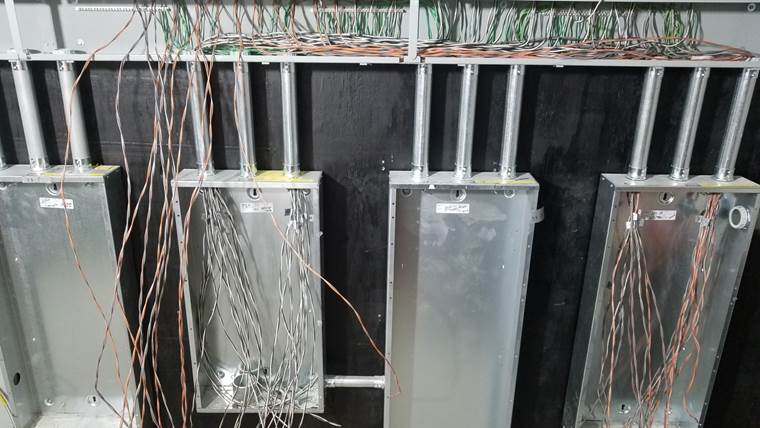Electrical boxes with wires