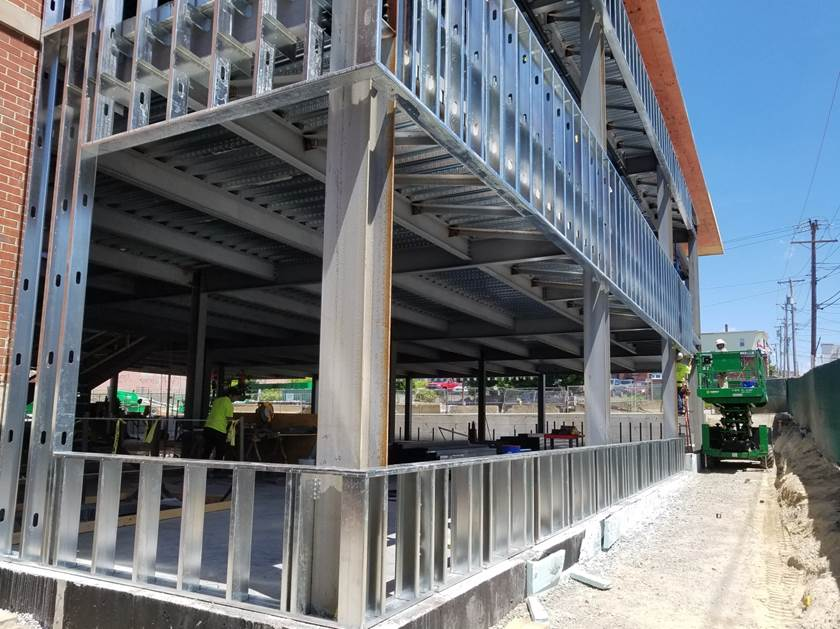 Exterior metal framing
