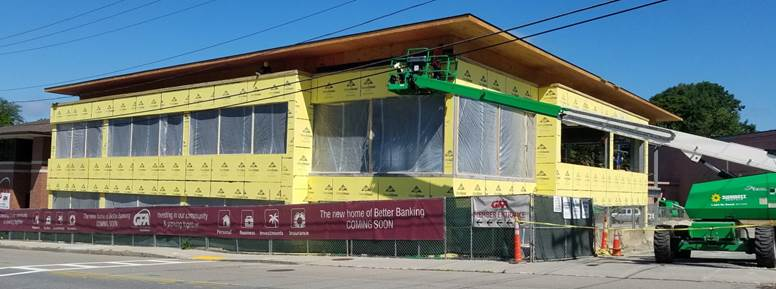 exterior yellow building sheathing