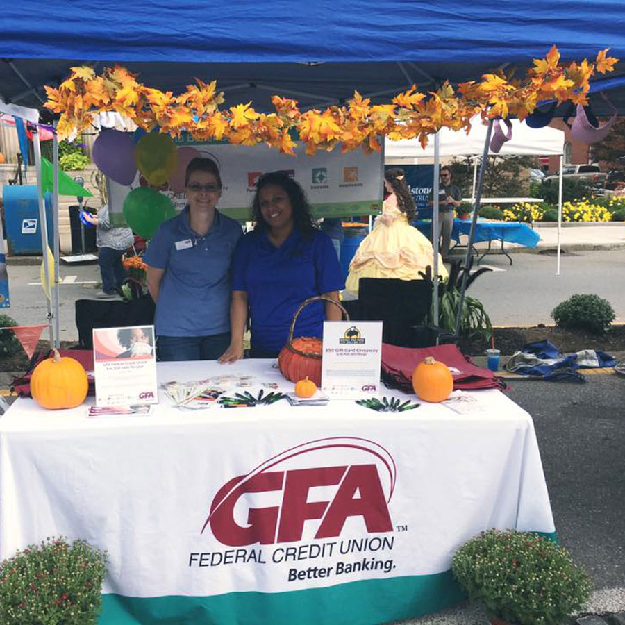 GFA's booth at the Johnny Appleseed Festival in Leominster, MA